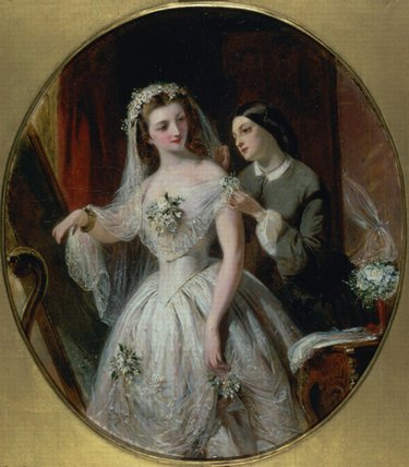 The Wedding Dress by Abraham Solomon (1823-1862, United Kingdom) | Oil Painting | WahooArt.com