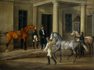 Adam Albrecht - Two Noble Horses Are Demonstrated To The Lord Of The Castle