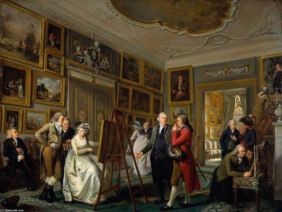 The Art Gallery Of Jan Gildemeester by Adriaan De Lelie (1755-1820, Netherlands)