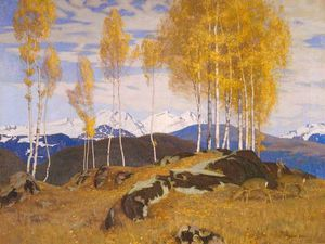 Adrian Scott Stokes - Autumn In The Mountains