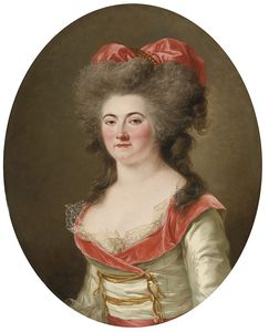 Adélaide Labille Guiard - Portrait Of A Lady, Half Length, Wearing A Pink Dress