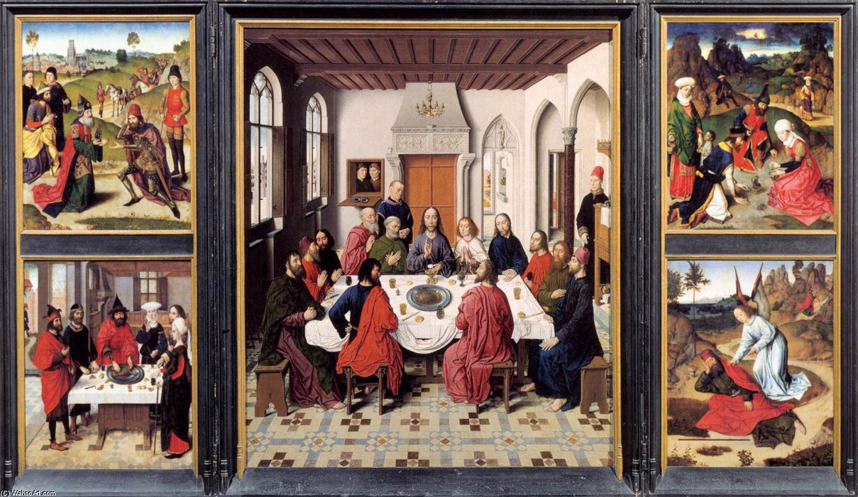 Altarpiece Of The Holy Sacrament_2 by Aelbrecht Bouts (1450-1549, Netherlands) | Famous Paintings Reproductions | WahooArt.com