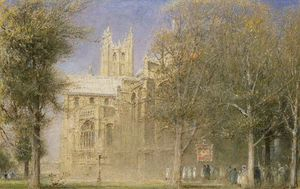 Albert Goodwin - Canterbury Cathedral