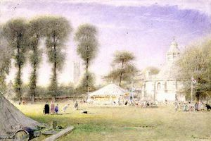 Albert Goodwin - Glastonbury Fair