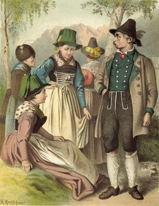 Albert Kretschmer - German Costume Bayern Lachenau