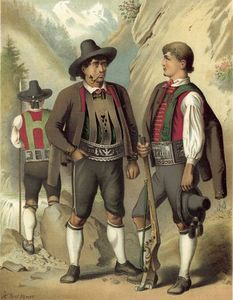 Albert Kretschmer - German Costume Tyrol Passeyer