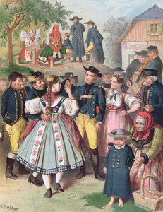 Albert Kretschmer - Village Fete In Bohemia