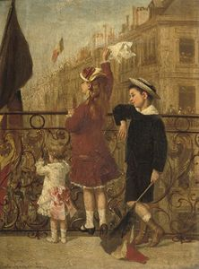 Albert Roosenboom - Waving To The Procession, Brussels