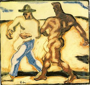 Albin Egger Lienz - Sower And Devil