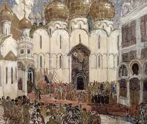 Aleksandr Jakovlevic Golovin - A Square In The Moscow Kremlin