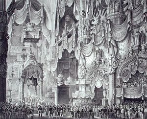 Alessandro Sanquirico - Coronation Of Ferdinand I In Milan Cathedral