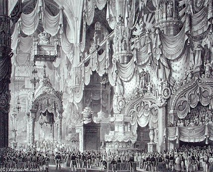 Coronation Of Ferdinand I In Milan Cathedral by Alessandro Sanquirico (1777-1849, Italy)