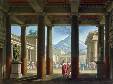 Entrance To The Amphitheatre by Alessandro Sanquirico (1777-1849, Italy)
