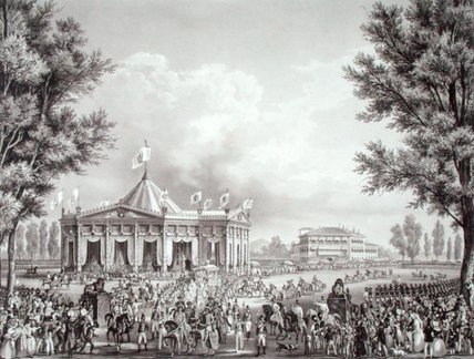 Procession Passing The Pavilion by Alessandro Sanquirico (1777-1849, Italy)
