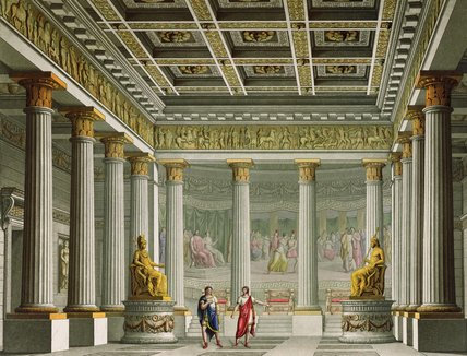 The Audience Hall In The Palace Of Aegistheus by Alessandro Sanquirico (1777-1849, Italy)