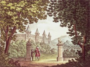 Order Print On Canvas The Gardens Of Windsor Castle by Alessandro Sanquirico (1777-1849, Italy) | WahooArt.com | Order Poster On Canvas The Gardens Of Windsor Castle by Alessandro Sanquirico (1777-1849, Italy) | WahooArt.com