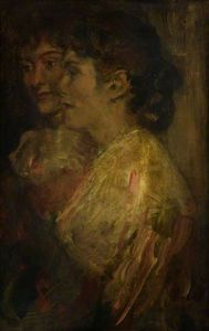 Alexander Ignatius Roche - Study Of Two Female Heads