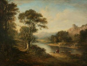 Alexander Nasmyth - River Landscape With Ruined Castle