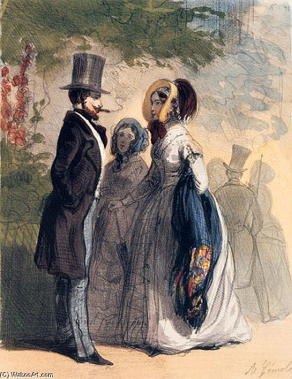 The Regular Visitor To Ranelagh Gardens by Alfred Andre Geniole (1813-1861)
