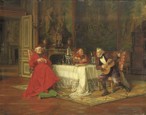 The Musical Interlude by Alfred Charles Weber (1862-1922, France) | Art Reproduction | WahooArt.com