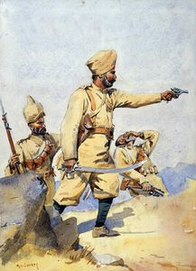 Alfred Crowdy Lovett - Soldiers Of The 24th Punjabis Malikdin Khel And