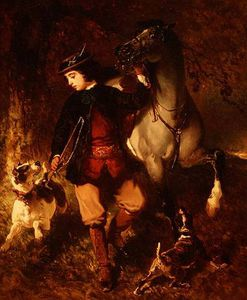 Order Oil Painting : Young Horseman by Alfred De Dreux (1810-1860, France) | WahooArt.com