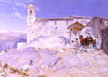 Sta Rocco by Alfred Downing Fripp (1822-1895, United Kingdom) | Painting Copy | WahooArt.com