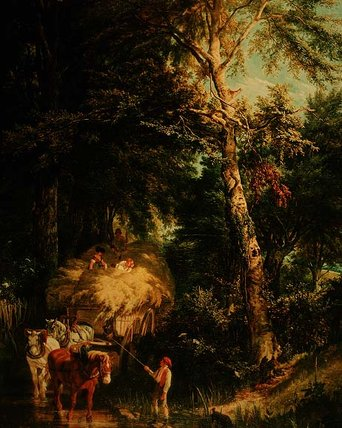 Crossing The Brook by Alfred Edward Chalon (1780-1860, Switzerland) | Museum Quality Reproductions | WahooArt.com