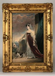 Alfred Edward Chalon - Portrait Of Lady Eleanor Egerton, C.1820