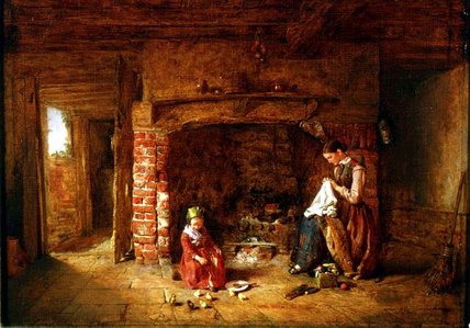 The New Brood by Alfred Provis (1843-1886, United Kingdom)