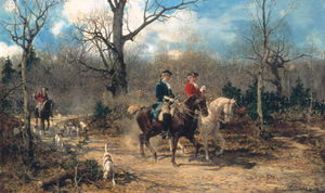Alfred Wierusz Kowalski - The Autumn Ride -