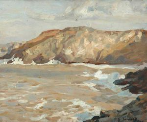 Algernon Talmage - Coast Scene With Cliffs