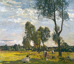 Algernon Talmage - Landscape With Cattle