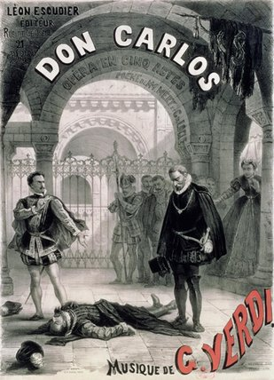 Poster Advertising Don Carlos by Alphonse Marie Adolphe De Neuville (1836-1885, France) | WahooArt.com