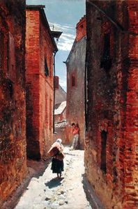 Alphonse Marie Adolphe De Neuville - Street In The Old Town