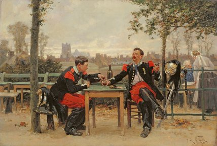 The Commander's Feast by Alphonse Marie Adolphe De Neuville (1836-1885, France)