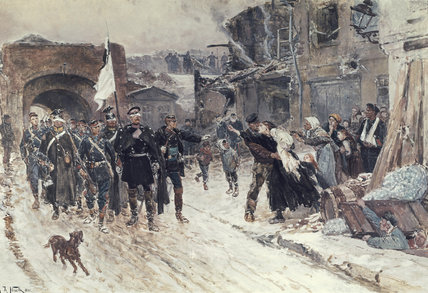 The Entrance Into Belfort Of The German Commander by Alphonse Marie Adolphe De Neuville (1836-1885, France)