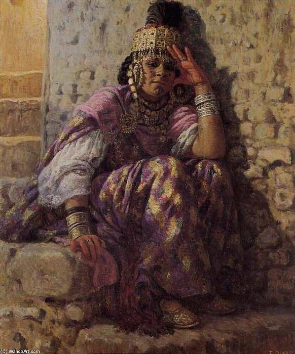 Order Paintings Reproductions | Une Ouled Naïl by Alphonse Etienne Dinet (Nasreddine Dinet) (1861-1929) | WahooArt.com
