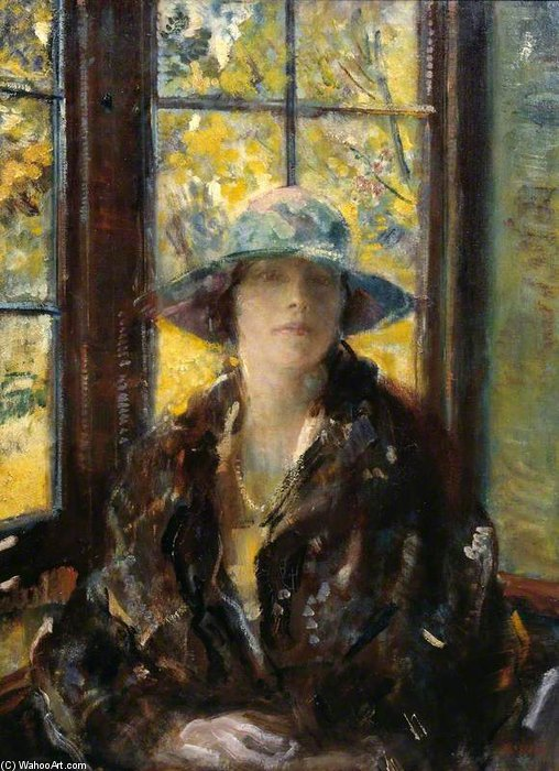 Mrs Claude Johnson by Ambrose Mcevoy (1878-1927, United Kingdom) | Art Reproductions Ambrose Mcevoy | WahooArt.com
