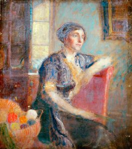 Ambrose Mcevoy - Mrs Lousada, Painted At Her House
