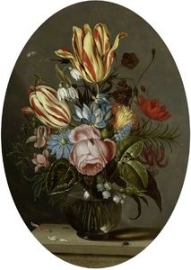 Ambrosius The Younger Bosschaert - A Vase Of Flowers