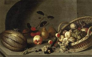 Buy Museum Art Reproductions | Still-life Of Fruit by Ambrosius Bosschaert The Younger (1609-1645, Netherlands) | WahooArt.com