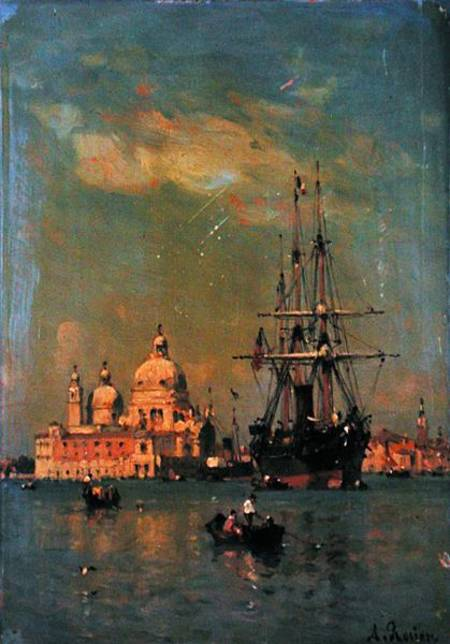 View Of Venice by Amédée Rosier (1831-1914, France)