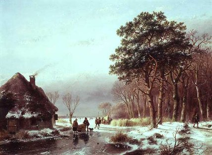The Edge Of The Forest by Andreas Schelfhout (1787-1870, Netherlands) | Art Reproductions Andreas Schelfhout | WahooArt.com