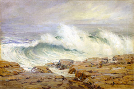 Breaking Wave by Anna Althea Hills (1882-1930, United States)