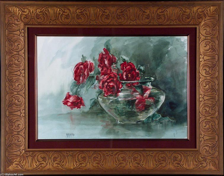 Red Roses - by Anna Althea Hills (1882-1930, United States) | Famous Paintings Reproductions | WahooArt.com