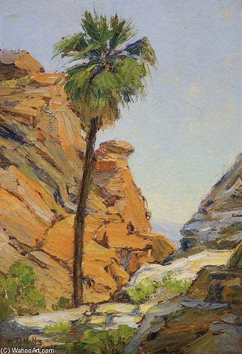 The Lone Palm by Anna Althea Hills (1882-1930, United States) | Museum Quality Reproductions | WahooArt.com