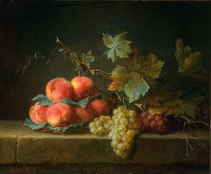 Anne Vallayer Coster - Still Life With Peaches And Grapes
