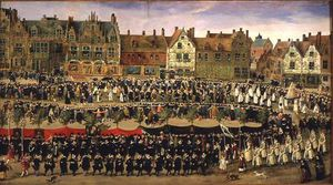 Anthonis Sallaert - Procession Of The Maids Of The Sablon In Brussels