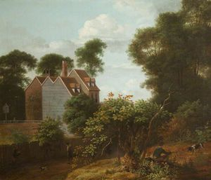 Anthony Devis - Landscape With House On The Edge Of A Wood